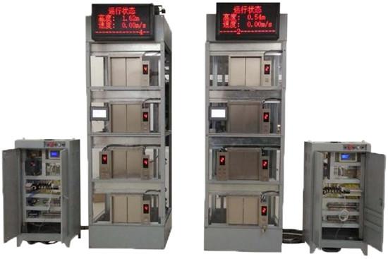 四,结构组成及功能 智能电梯由电梯控制柜和电梯模型组成,能实现按钮